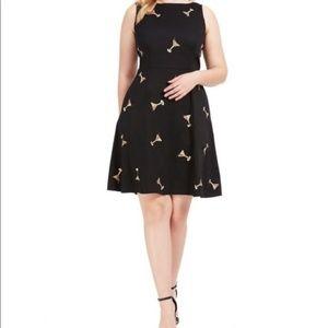 eShakti Sleeveless Black Fit and Flare Dress Sz 4